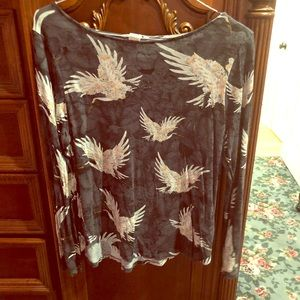 White bird top from H & M size M
